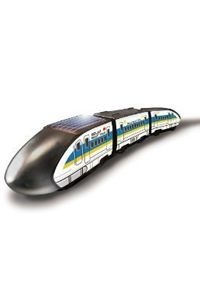 The Solar Bullet Train is an excellent beginner building kit designed to teach how solar power is used to drive a small motor. Its 18 parts snap together and are secured with only four screws.   Budding scientists of all ages will enjoy building this amazingly fast eco-friendly train and watch it travel without rails.
