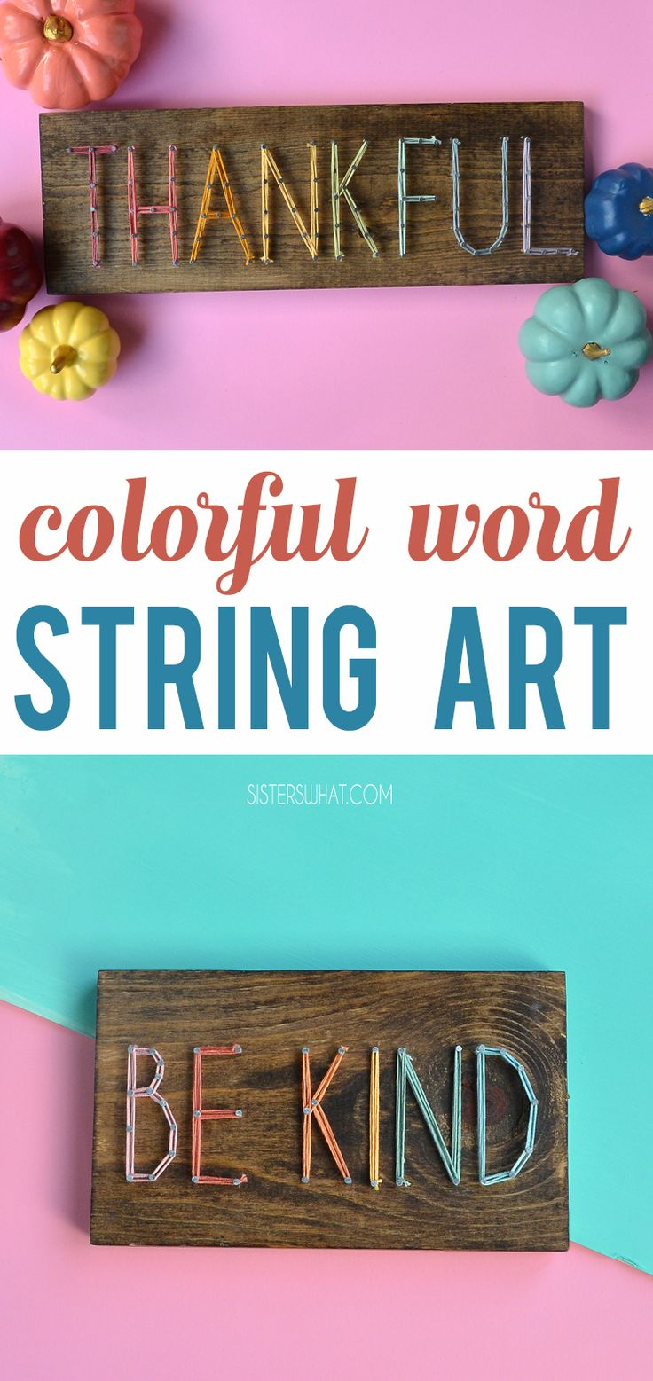 A easy, simple colorful string art craft and pattern idea