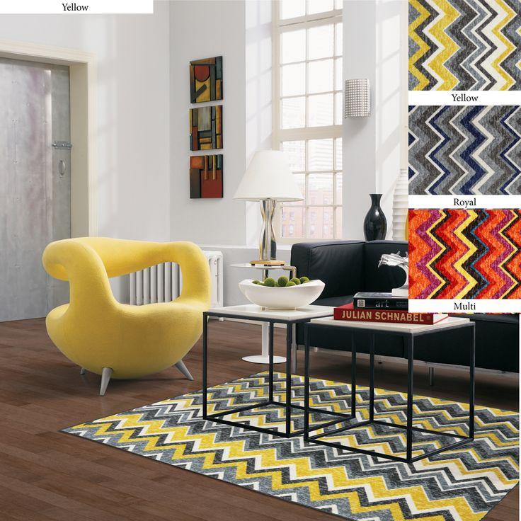 Ziggy Chevron Area Rugs   Overstock.com Shopping   Great Deals On 5x8   6x9
