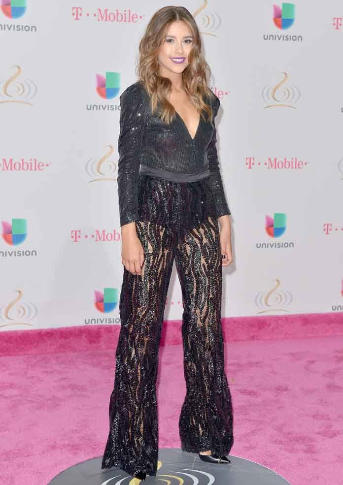 Paulina Goto made a splash at Univision's 29th Edition of Premio Lo Nuestro A La Musica Latina at the American Airlines Arena in Miami, wearing a gorgeous sequined ensemble.