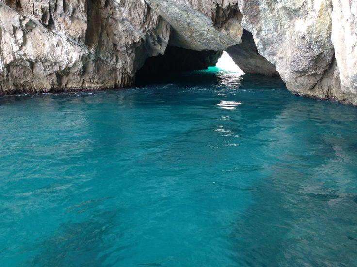 Capri, grotta verde