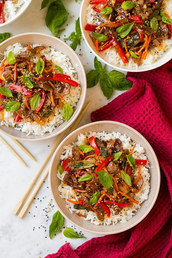 So I've decided I need more Thai food in my life. It's so uniquely flavorful and it always leaves me craving more. These hearty Thai Basil Beef Bowls are n