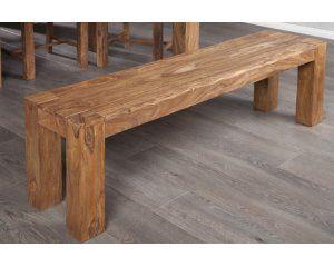 Ławka wykonana z drewna shisham, 140x35x45 cm - i15521