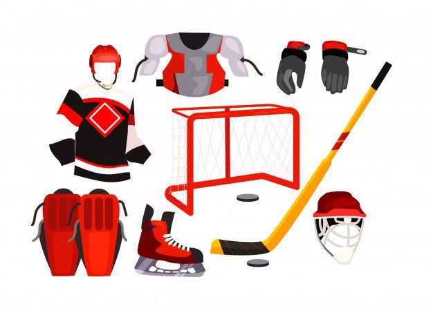 Hockey Equipment Icons Free Vector Premium Vector Freepik Vector Winter Icon Sport Icons Hockey Equipment Icon Collection Simple Icon