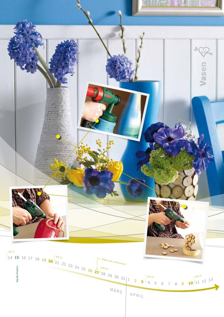Kalenderprojekt Vasen Bauanleitung zum selber bauen
