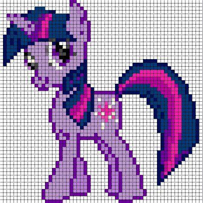 Free my little pony cross stitch | Twilight Sparkle Sprite by ~Bobbeyjazz on deviantART