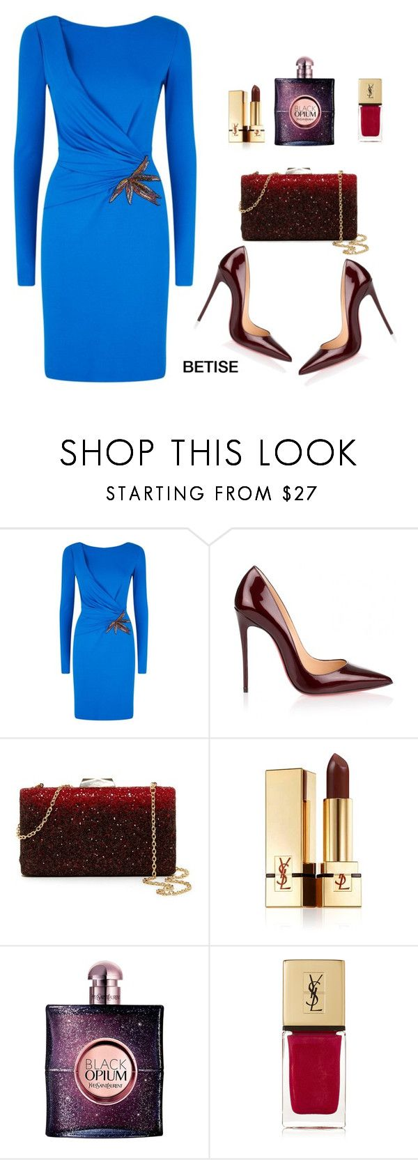 """FEELING SO GOOD "" by betty-sanga ❤ liked on Polyvore featuring Emilio Pucci, Christian Louboutin, Natasha and Yves Saint Laurent"
