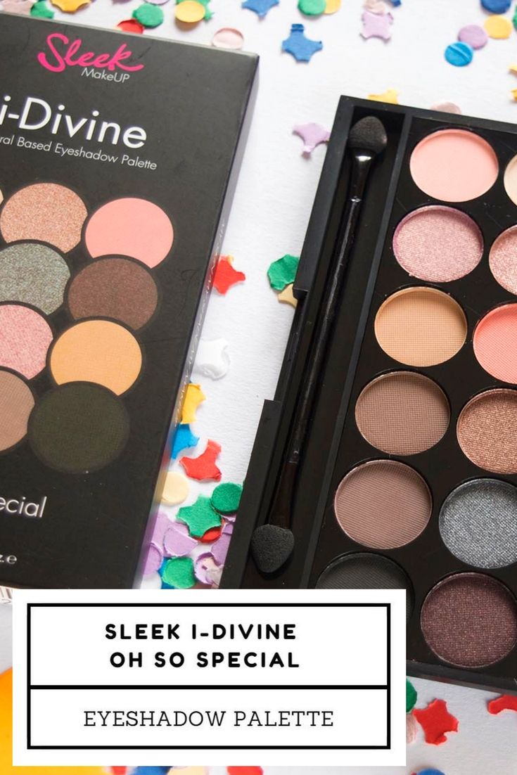 I've been using the Sleek I-Divine Oh So Special eyeshadow palette for a couple of months now, so I can finally tell you my opinion about it.