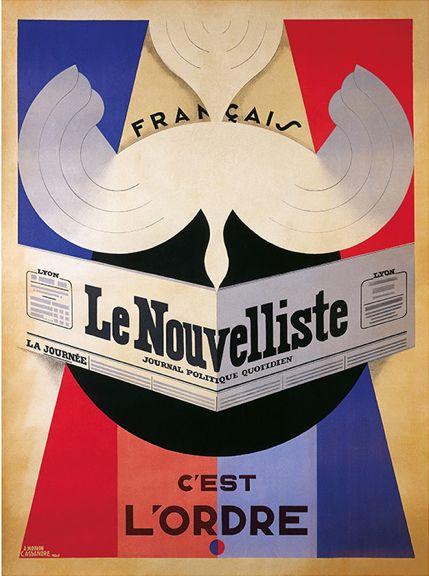 By Adolphe Mouron Cassandre (1901-1968), 1924, Le Nouvelliste.
