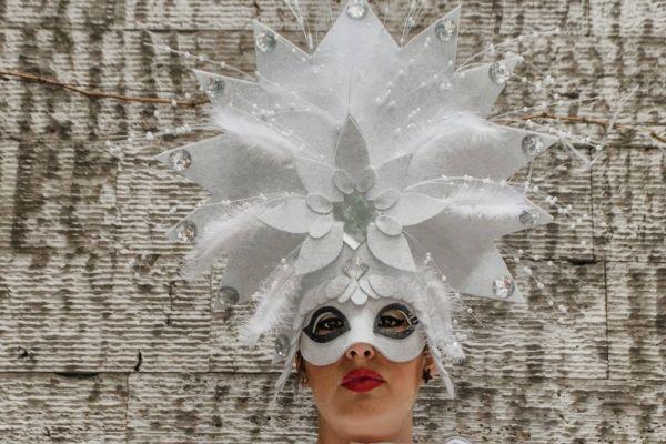 white sun mask