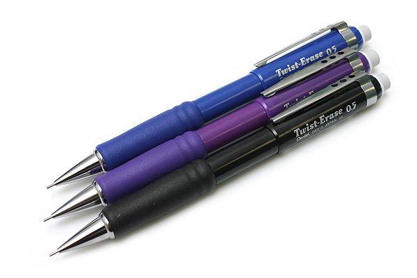 Pentel Twist-Erase III Mechanical Pencil http://www.jetpens.com/Pentel-Twist-Erase-III-Mechanical-Pencils/ct/1560