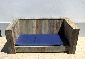 Outdoor couch made out of pellet wood