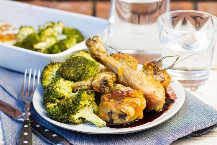 Kip met portsaus en gegrilde broccoli - Koken met Aanbiedingen