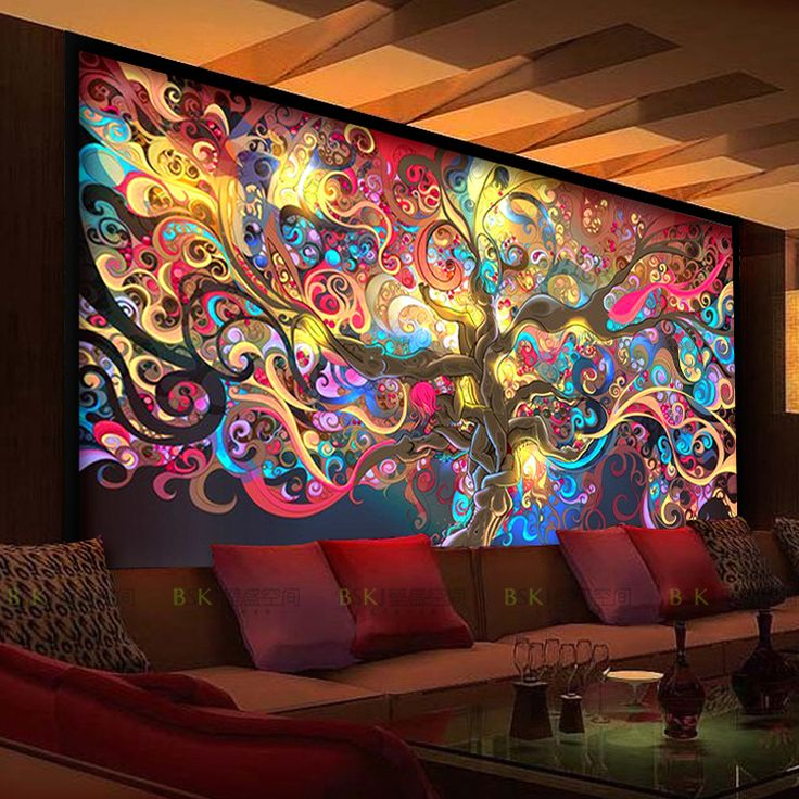 3d mysterious forest wallpaper room escape haunted house horror background decorative wall paper. Black Bedroom Furniture Sets. Home Design Ideas