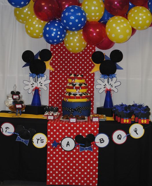 78 best ideas about mickey baby showers on pinterest for Baby mickey decoration ideas