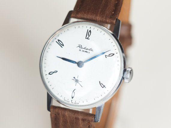 Minimalist men's watch Raketa  men's wrist watch  by somesoviet