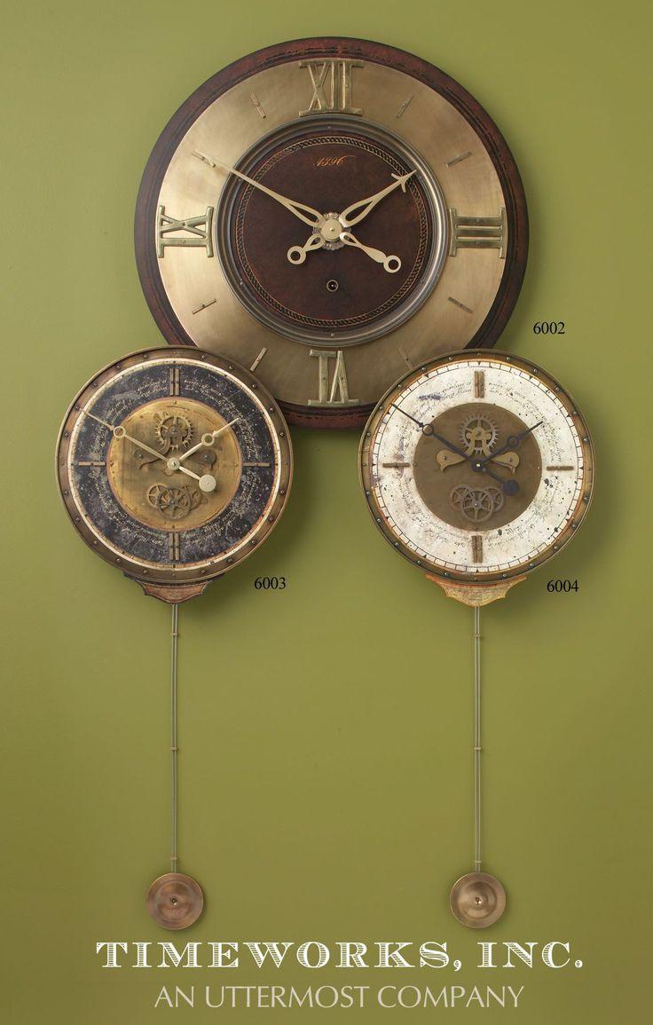 Vintage industrial clock double sided factory clock brilli 233 - Uttermost Leonardo Chronograph Black Wall Clock