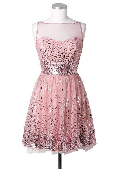 Sequin Mesh Dress - bridesmaids? Comes in black and gray as well