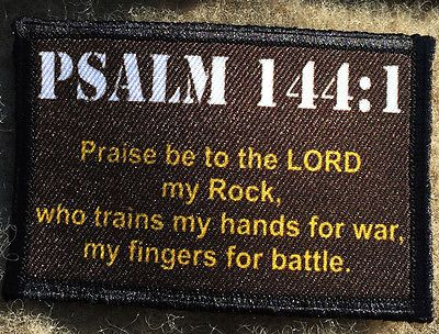 Psalm 144:1 Morale Patch Milspec Tactical Bible Christian Military