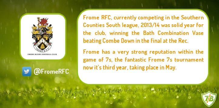 The 6th team to be revealed today is Frome Rugby Football Club. Welcome to the Hartpury Sevens.