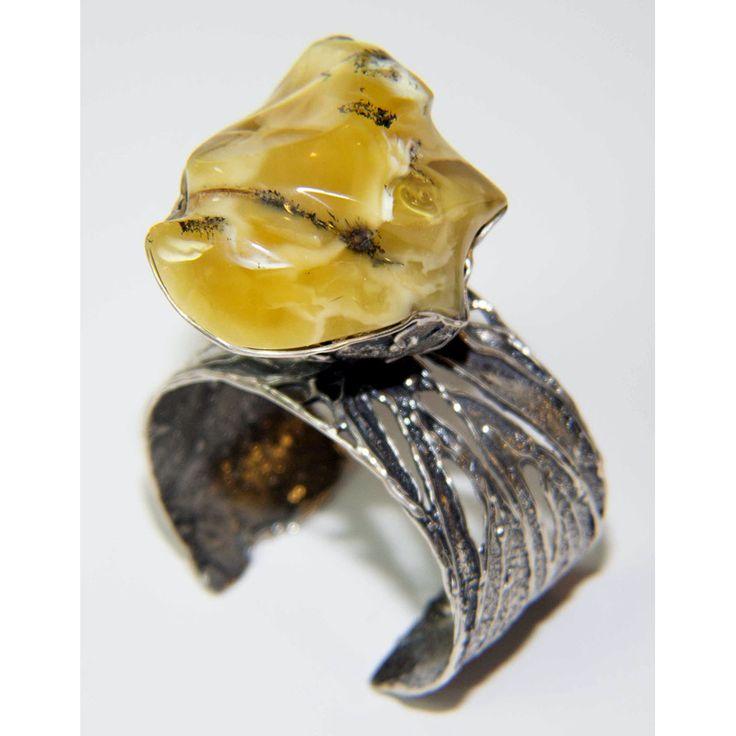 Butterscotch Baltic Amber Bangle Bracelet