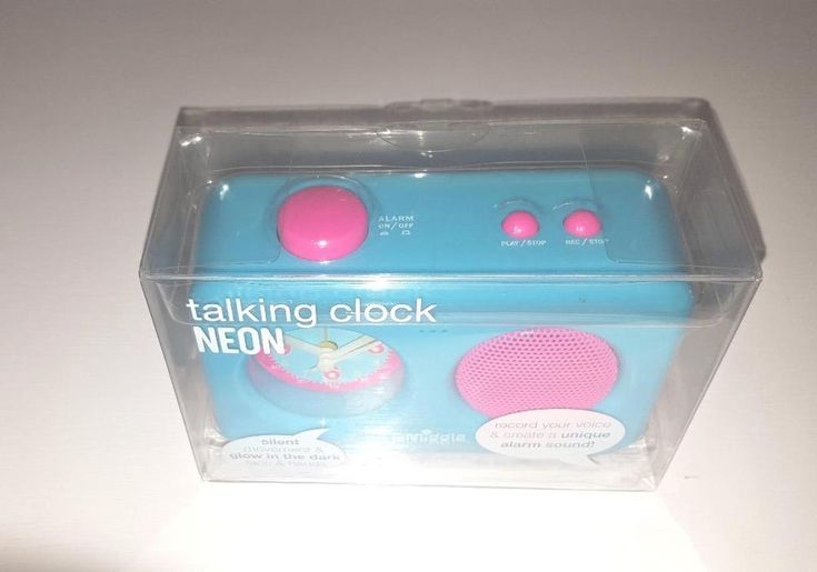 Smiggle Neon Talking Clock- New BLUE #SMIGGLE