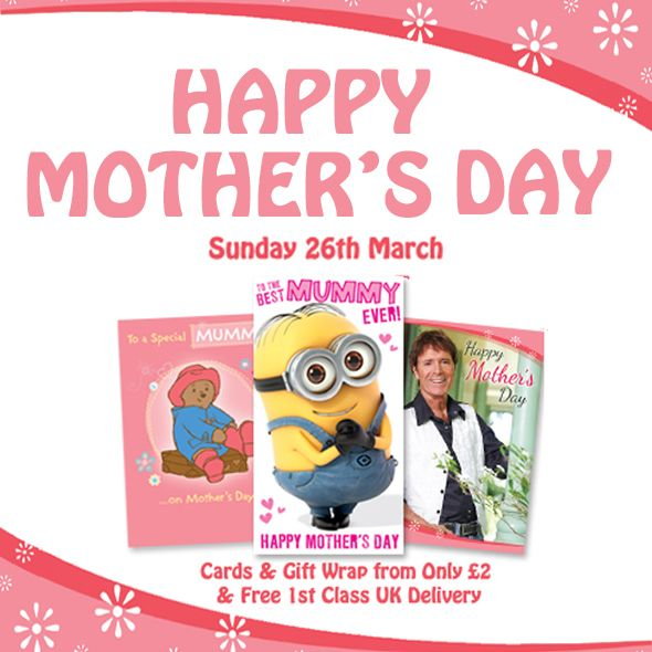 Great Official Mother's Day Cards available from £2 and FREE 1st Class UK Delivery at Danilo.com