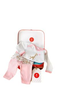 Lovely little baby girls pink and white top and pant set. Gift box includes gift cards included. Great price.