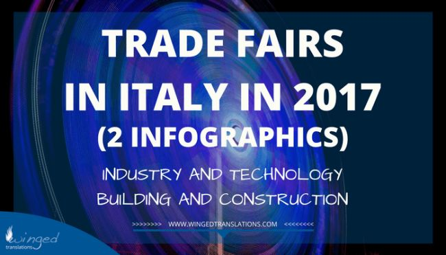 Trade fairs in Italy in 2017 - Industry, technology, building, construction