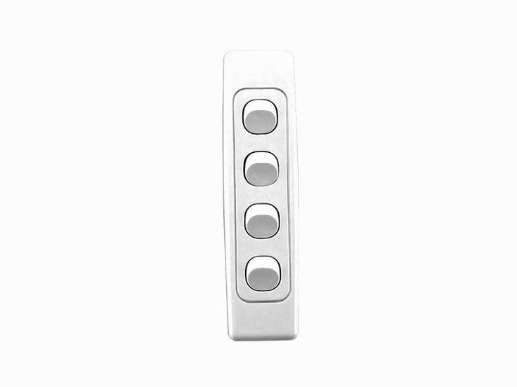 Clipsal 2000 Series Light Switch 4 Four Gang Quad Wall Plate Architrave 2034A