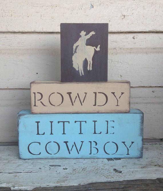 N U R S E R Y // Cowboy Nursery Blocks little boys by BetsysWood, $32.00