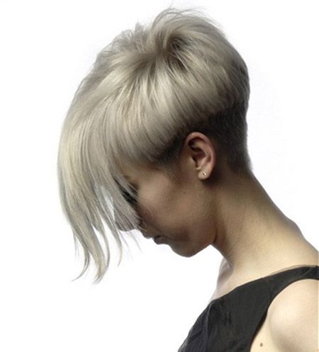 Pixie Cut with Very Long Bangs This fashion