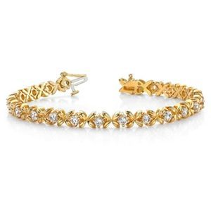Diamantarmband 2.00 Karat aus 585er Gelb- bzw. Weißgold