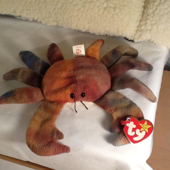 1996 Ty Beanie Baby Claude The Crab Ty Dye Rare Retired