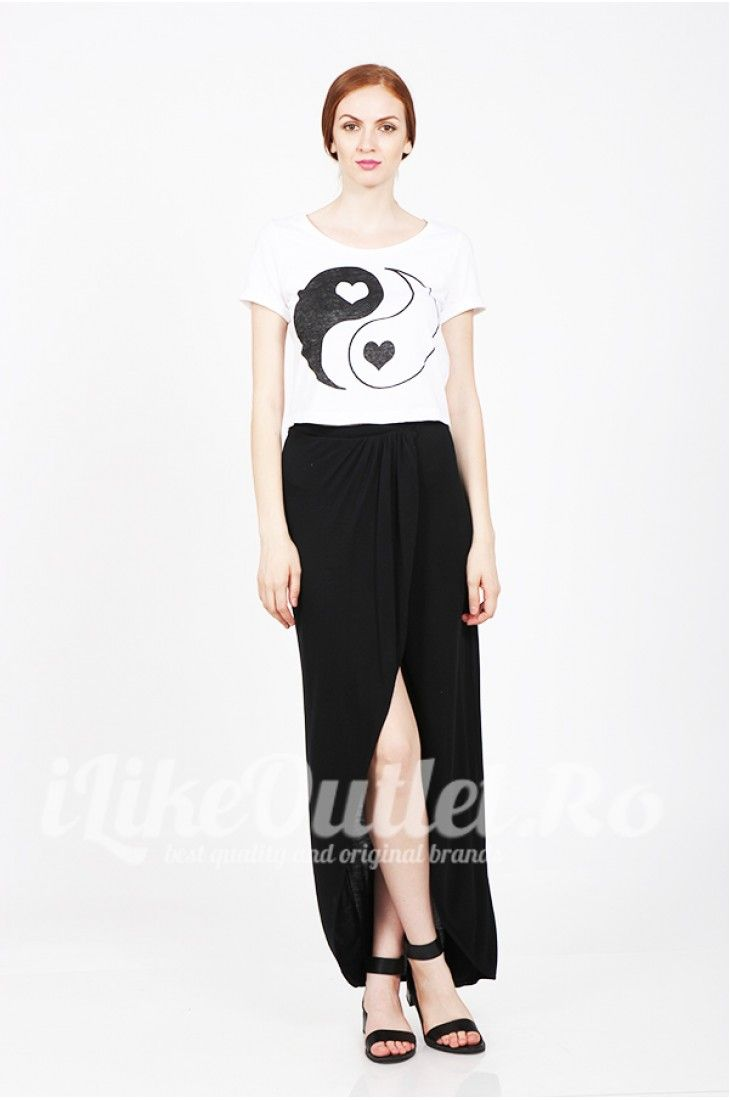 Tricou alb Yin&Yang - NOISY MAY