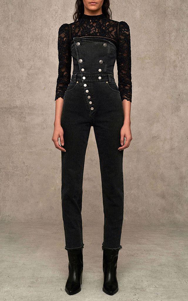 c603476bf05 Myles Strapless Denim Jumpsuit by MARISSA WEBB for Preorder on Moda Operandi