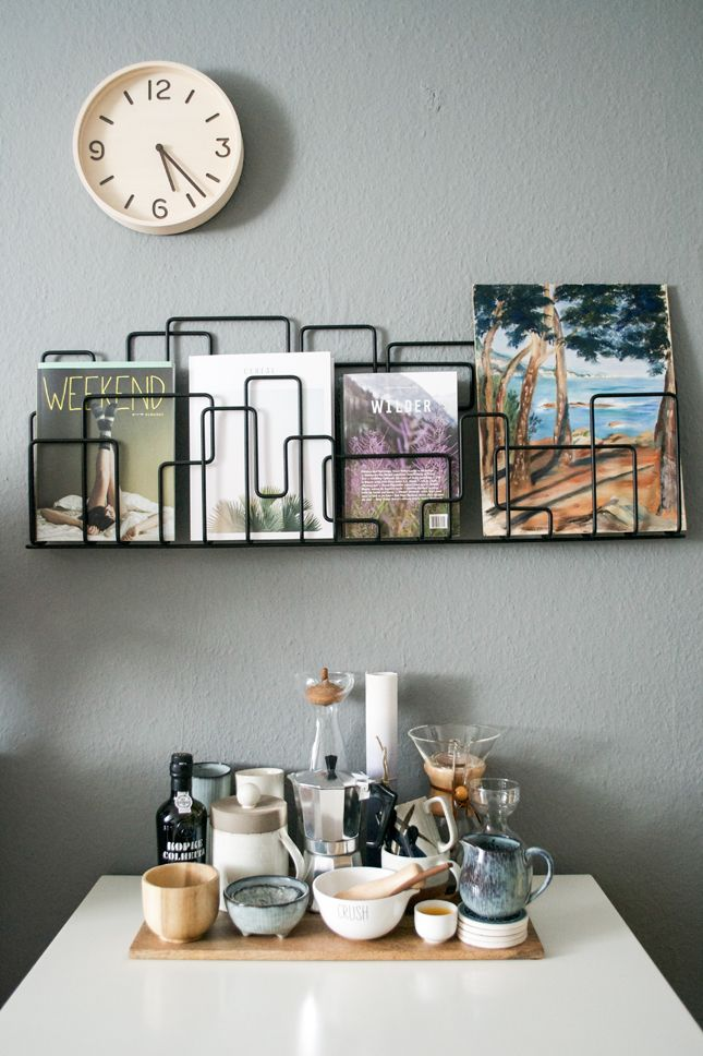 City Sunday magazine rack by Minus Tio via Happy Interior Blog. Photo by Igor Josifovic.