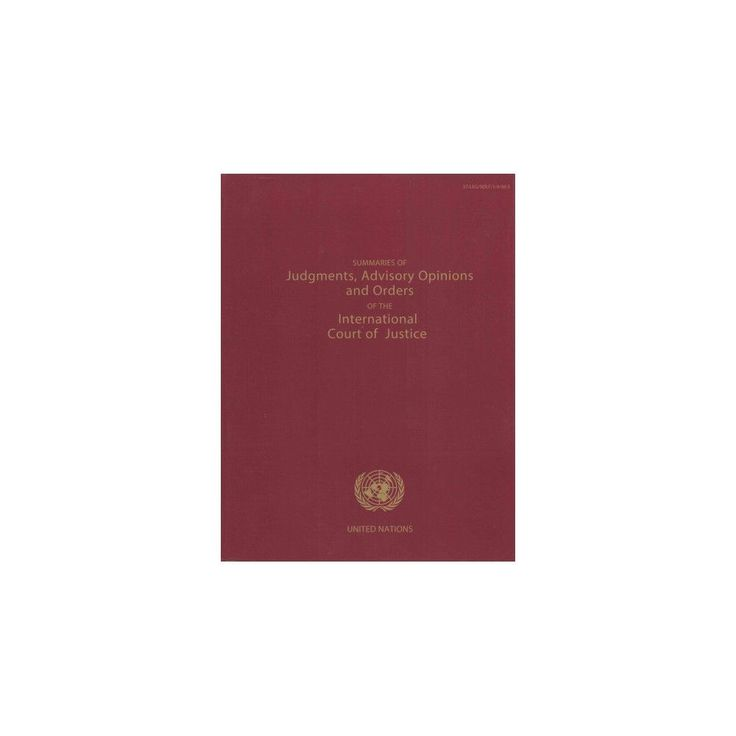 Summaries of Judgments, Advisory Opinions and Orders of the Permanent Court of International Justice