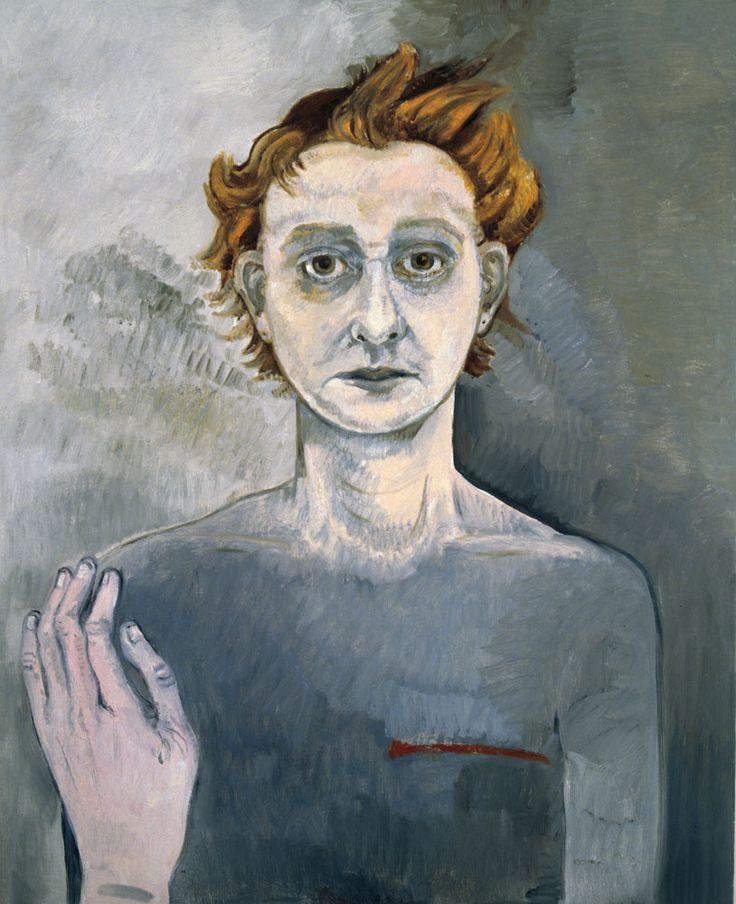Neş'e Erdok, Otoportre, 100x80 cm, 2011, Tuval üzerine yağlıboya