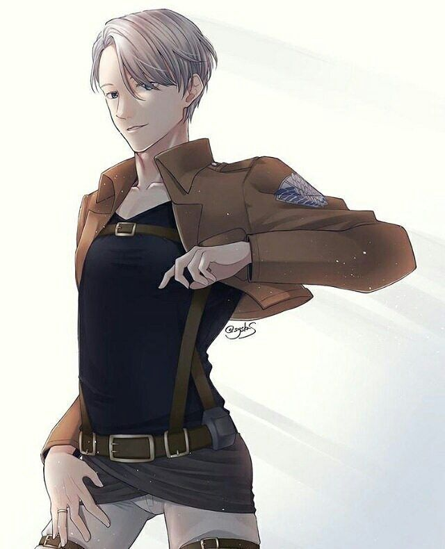 AoT x Yuri!!! On Ice And what appears? A hot Victor who's ready to kill Titans ☆ ☆ ☆ ☆ Credit to systas ☆ ☆ ☆ ☆ ☆ ☆ ☆ ☆ ☆ ☆ #yurionice #victor #victornikiforov #nikiforovviktor #iceskate #skate #yoi #yuuri #victuri #katsukiyuuri #katsuki #plisetskyyuri #plisetsky #yurio #yuri #katsukiyuuri #altinotabek #altin #otabek #ユーリ #ユーリonICE #figureskating #boy #snow #ice
