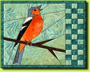 Buchfink by Regina Grewe, Denmark - paper pieced bird pattern