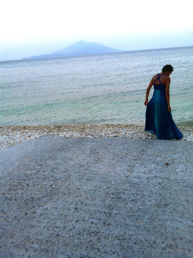 a dip in the ocean. Greece, Samos