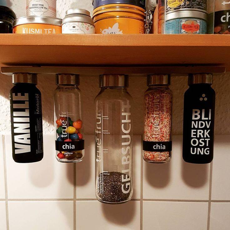 Danke An Speedyyy73 Fur Dieses Upcycling Bild Unsere Permanent Verschlusse Reagieren Auf Magnete Glas Aufbewahrung Lampe Aus Flaschen True Fruits Upcycling