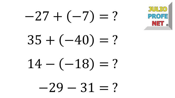 Suma y resta de números enteros
