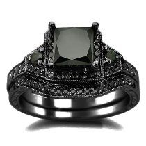 2.01ct Black Princess Cut Diamond Engage