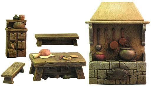FRP GAMES - PRODUCT - Fenryll Miniatures: Medieval house accessories (acc.)