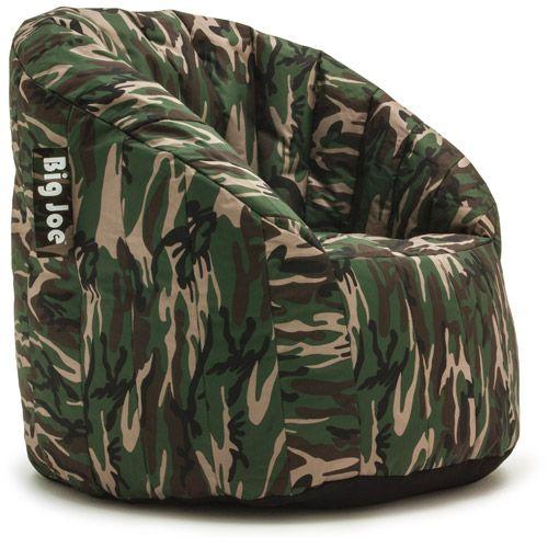Joe Lumin Chair Green Camo Kids Rooms Bedroomskids Bean Bag