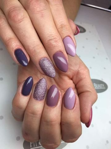 40 stylish short coffin nail art designs in 2020  purple