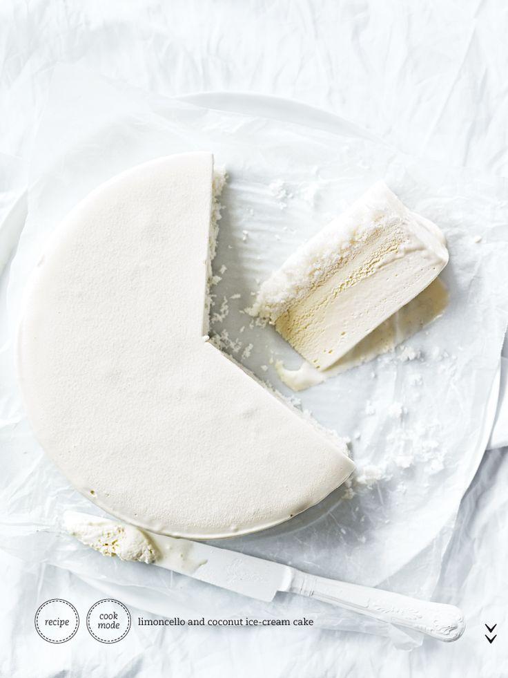Limoncelle & Coconut Icecream Cake