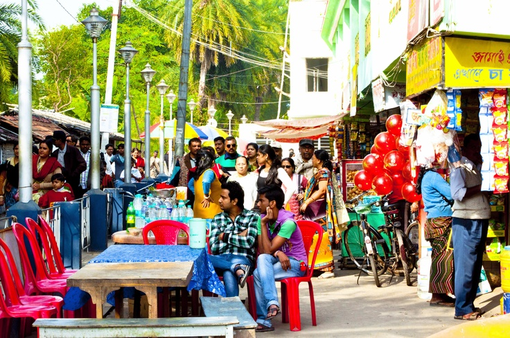 Roadside cafes - Roadside cafes at Taki in West Bengal, India. Taki is a small township by the bank of the river Ichamoti separating India from Bangladesh. Taki is about 75 Km from Kolkata and is considered to be a picnic town. Taki is full of tourists right from October till March every year, and it was 10 deg C at Taki when I was there from 24th to 26th December 2012 ..